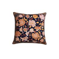 Canvas Cushion Cover Fleur Nightshade