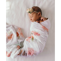 Organic Muslin Wrap Sorbet Bloom